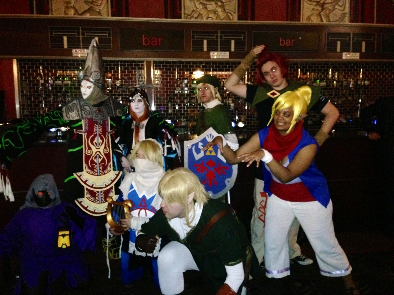 Some of the amazing cosplayers at the Zelda Symphony of the Goddesses