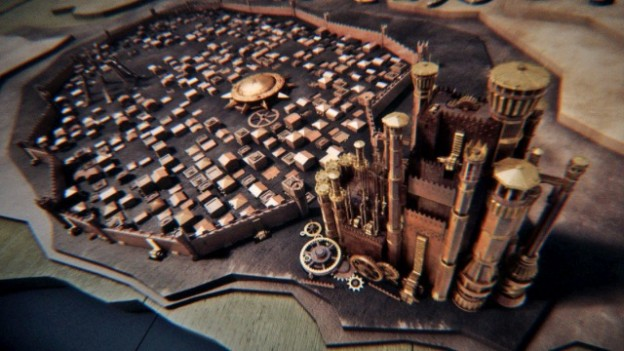 Still from Elastic's animated map for Game of Thrones