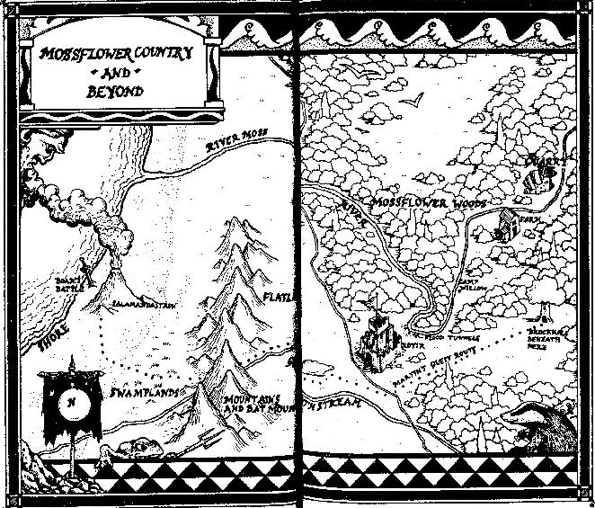 Map for Brain Jaques' novel Mossflower