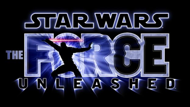 The title screen for the game Star Wars: The Force Unleashed