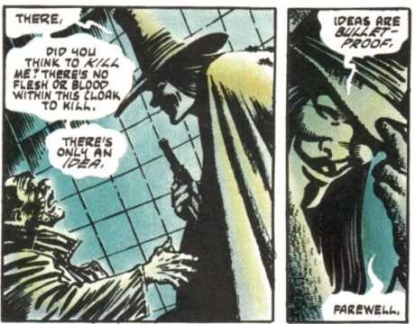 Hugo Weaving played V in the film adaptation of V for Vendetta. I kept expecting him to mention Mr Anderson...