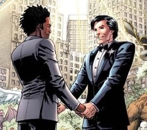 Northstar marries his partner Kyle.