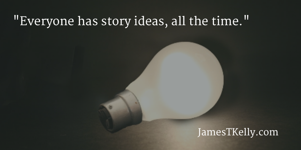 Everyone has ideas, not just writers. Image courtesy Alan Cleaver (Flickr)