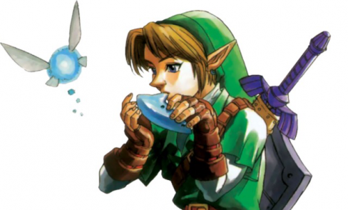 Link and Navi from the Ocarina of Time
