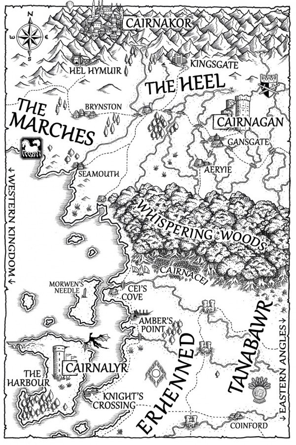 A map of Tir for The Fey Man