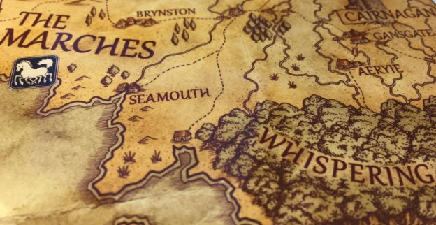 Howard Coates created stunning maps for The Fey Man