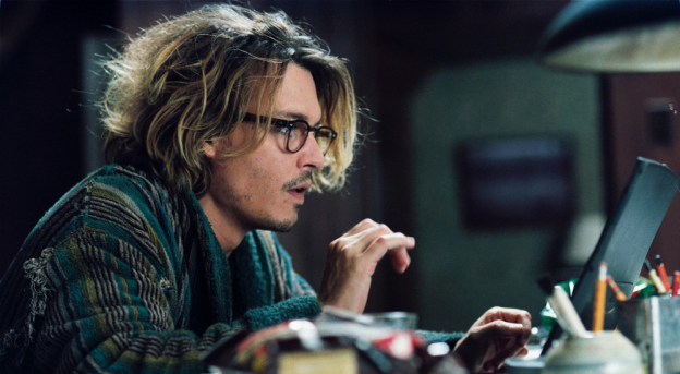 Johnny Depp portrayed many of the typical writer stereotypes in The Secret Window