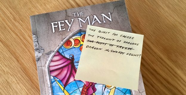 A copy of The Fey Man with a list of alternate titles