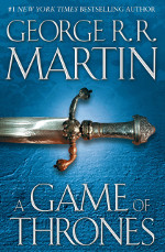 Book cover to A Game of Thrones by George R R Martin