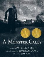 Book cover to A Monster Calls by Patrick Ness and Siobhan Dowd