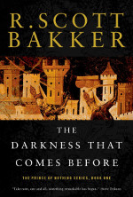 Book cover to The Darkness That Comes Before by R Scott Bakker