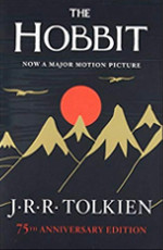 Book cover to The Hobbit by J R R Tolkien