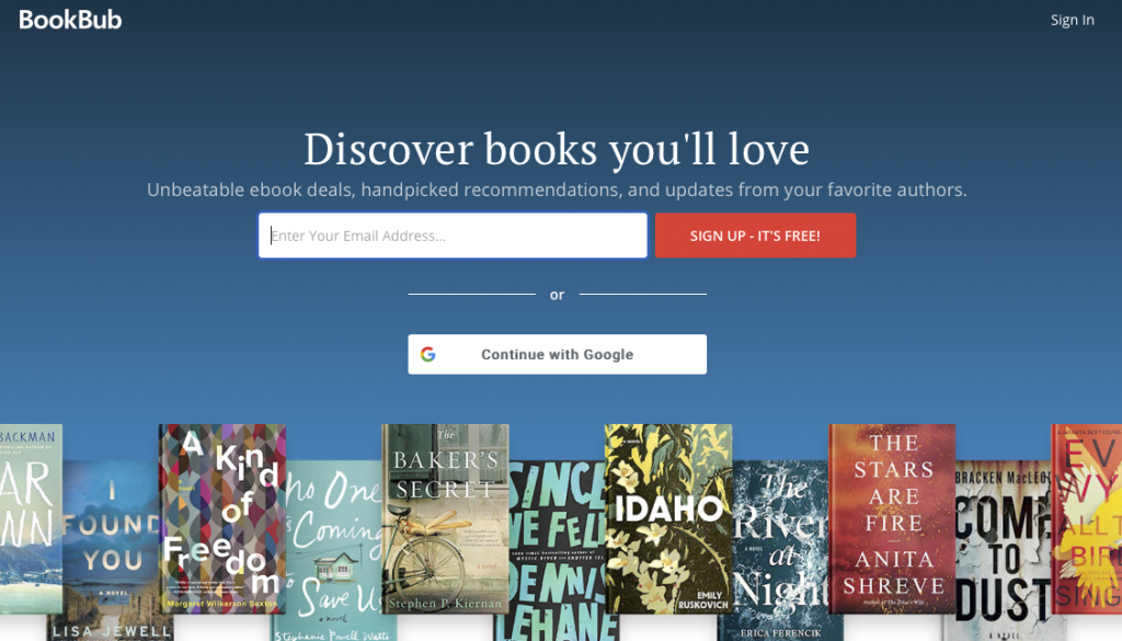 BookBub delivers ebook deals direct to your inbox.