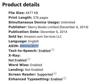 Here's how to find an ebook's ASIN on Amazon